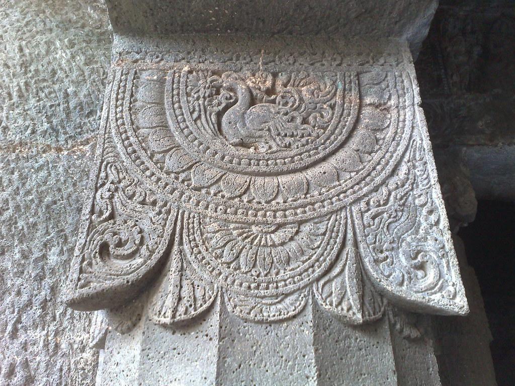 Trip to ajanta ellora caves ricate stone carving