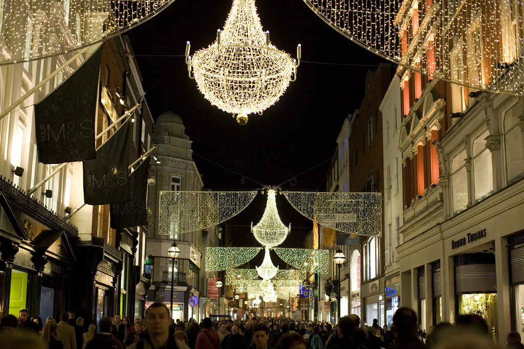 Grafton Street Dublin Christmas Lights Dub07 2 58225r