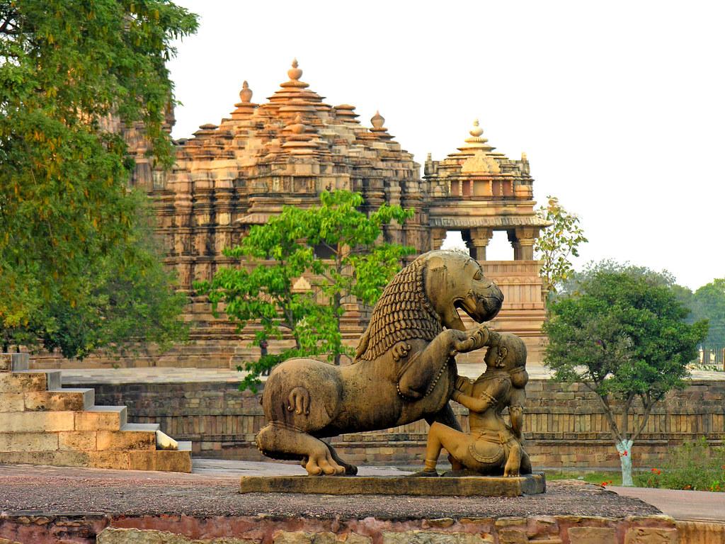 India-5695 - Khajuraho Monuments  Please, No Multi -6289