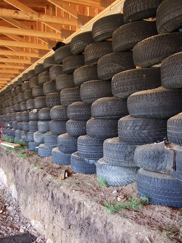 Earthship Tire Wall 850 Tires Went Into This Wall To