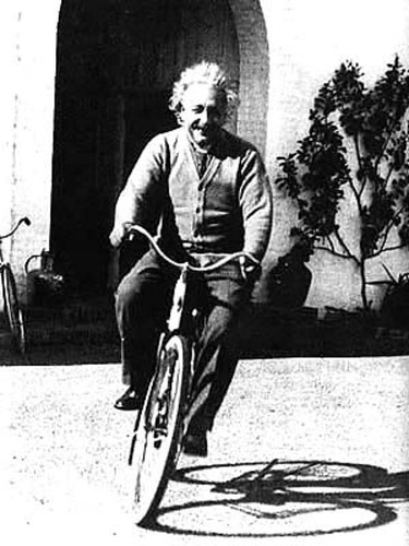 """I thought of that while riding my bicycle"" - einstein on his theory. 