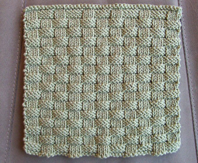 Basket Weave Washcloth Here Is An Example Of A Washcloth T Flickr