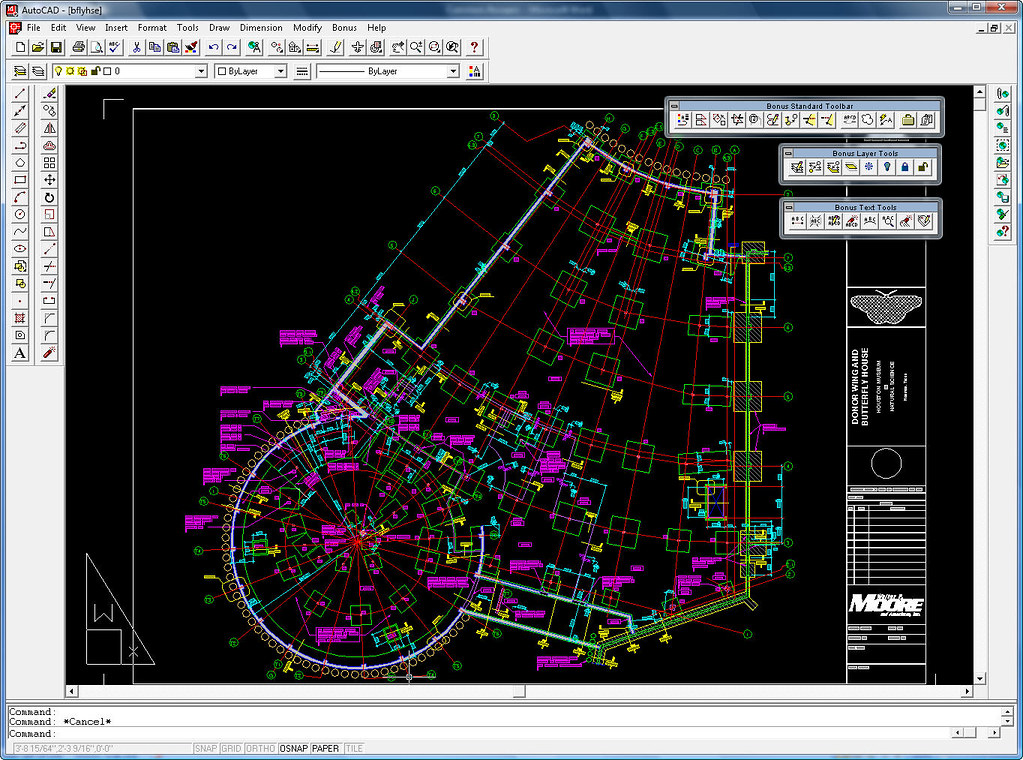 AutoCAD R14 ButterflyHouse Sample DWG by D.Harrington - Flickr