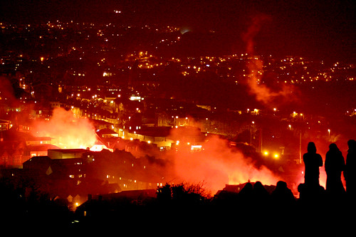 Lewes Bonfire Night 2007 - Burning Town and Hillside Watchers | by Dominic's pics