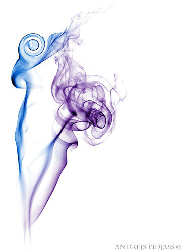 Colorful smoke on white background | by NejroN