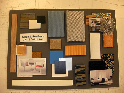 Sample board for loft knightsby interior design sample for Sample interior designs