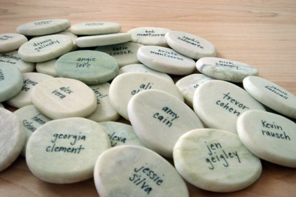 rock placecards