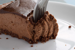 Chocolate-Glazed Hazelnut Mousse Cake
