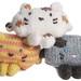 Striped, Calico, and Siamese Cat