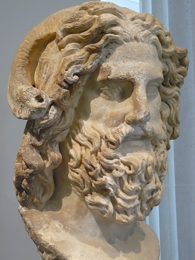 Marble Head Of Zeus Ammon Discovered At The Mouth Of The N