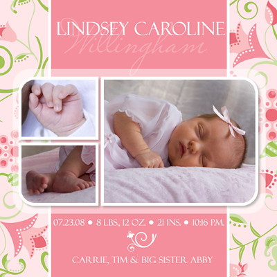 Baby Birth Announcement Photoshop Templates Volume 3 – Free Baby Announcements Templates