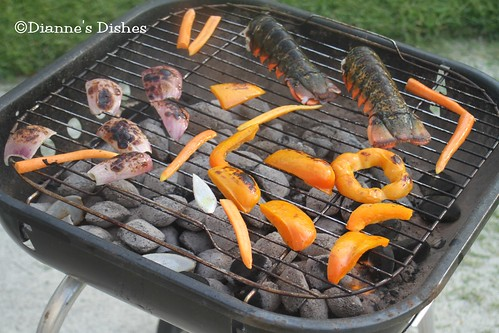 Grilled Vegetable and Lobster Salad: Grilling | by Dianne's Dishes