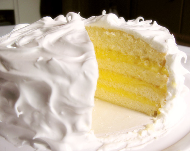 Coconut Layer Cake With Lemon Filling