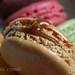 Close-up of a Caramel Macaron from Laduree