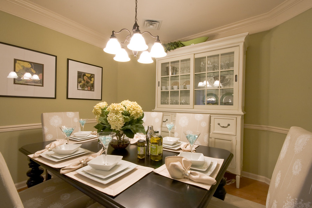 model home dining room alternate view taken in a new