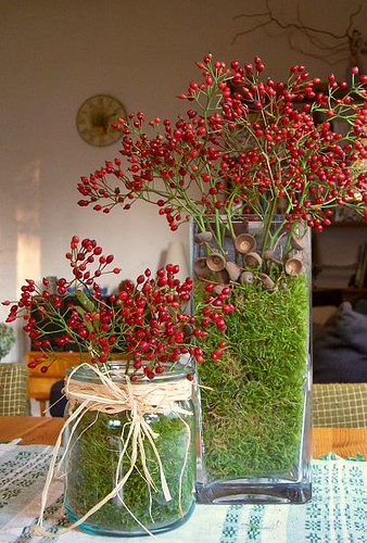 Autumn decor from my garden i love the autumn colours - Glasvase dekorieren ideen ...