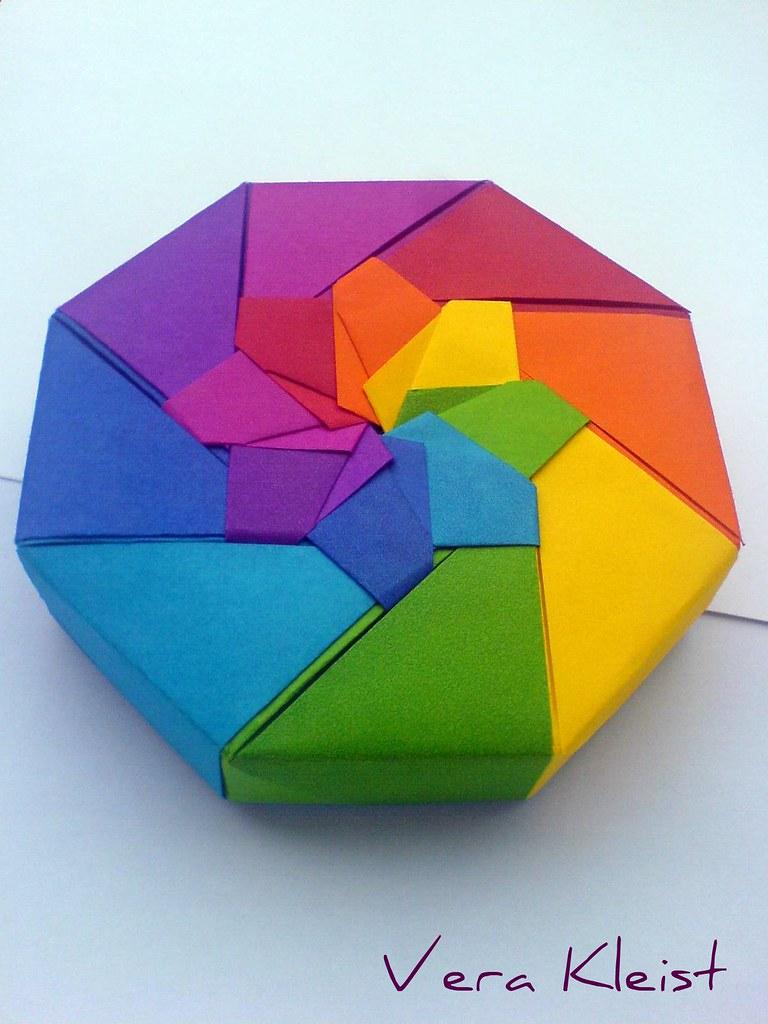Origami rainbow box vera kleist thom flickr origami rainbow box by beadingvera schmuck ideen gestaltung jeuxipadfo Gallery