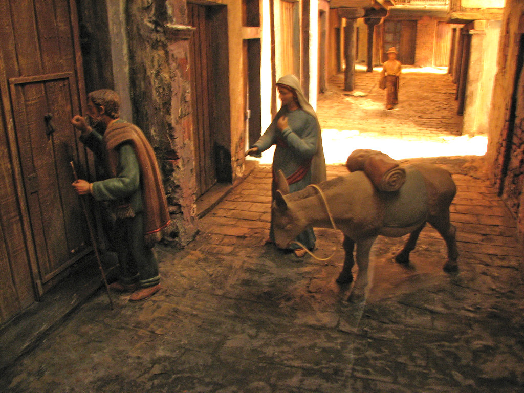 Christmas Crib Mary And Joseph S Search For Shelter Flickr