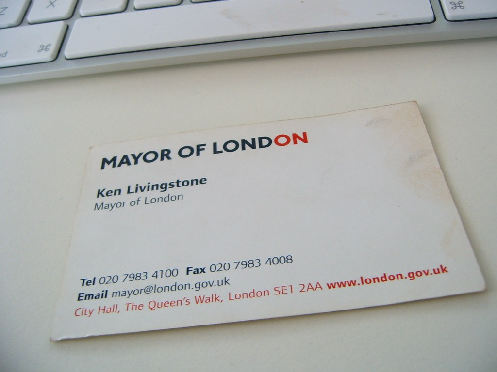 Ken livingstones business card as you can tell by the bat flickr ken livingstones business card by mex beady eyes magicingreecefo Images