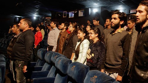 National Anthem, No Need To Stand Up For National Anthem Played During The Movie In Theaters; Confusion Gone!