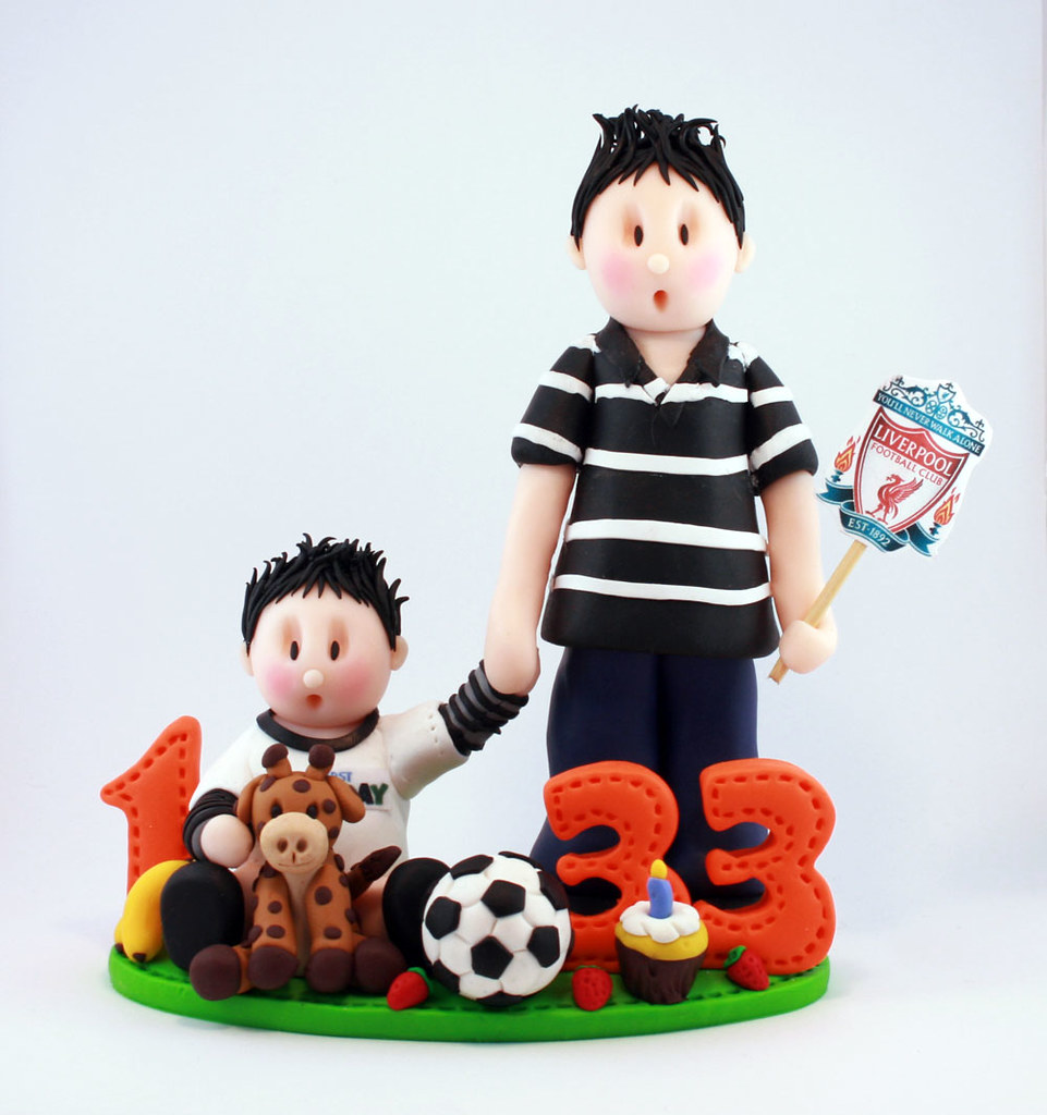 Birthday Cake Images To Son : Father and Son Share Birthday Cake Topper missnatch Flickr
