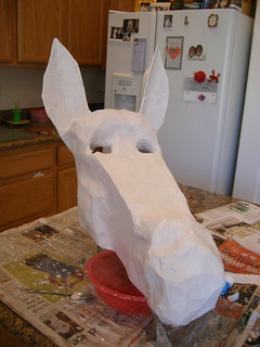 Donkey Mask, Paper Mache | by Sarah&Boston