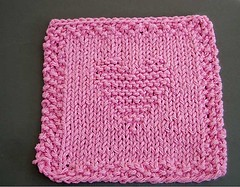 QB's knit heart square | by Birdies100