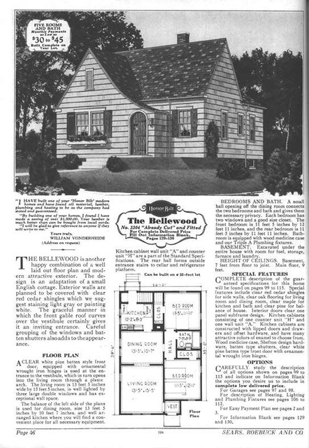 Sears Modern Home The Bellewood Sears Kit House From