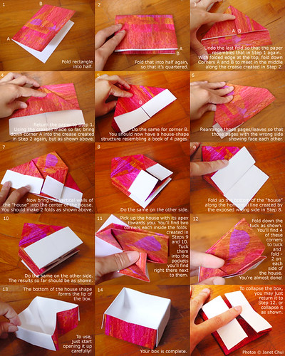 how to make a sliding box out of paper