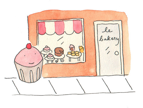 Cupcake at the Bakery | by cakespy