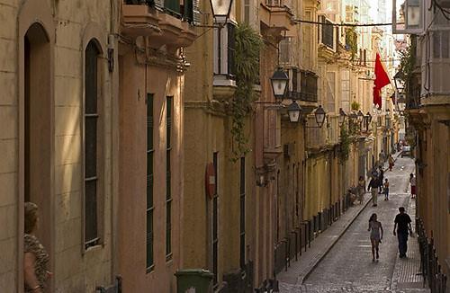 Cadiz Spain street 8pm...