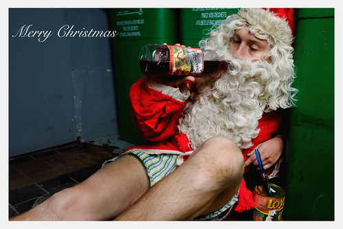 Santa Claus is a drunk | by Delgoff.