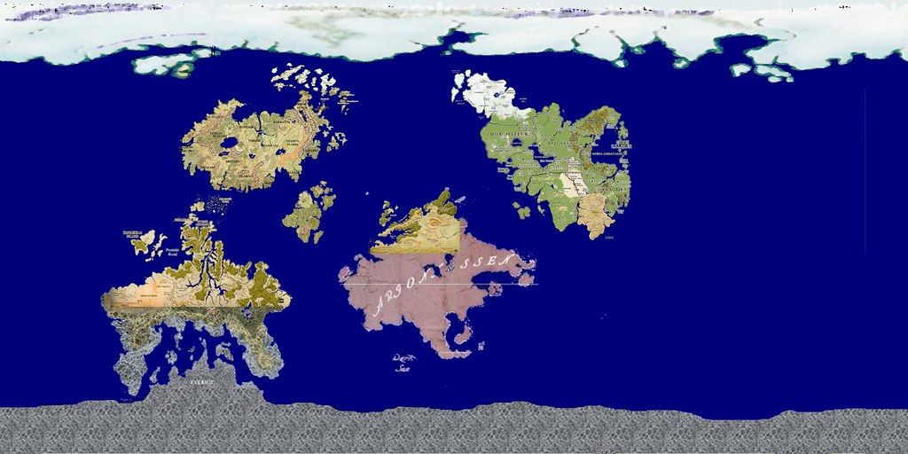 Eberron world map   Map of Eberron created by combining maps…   Flickr
