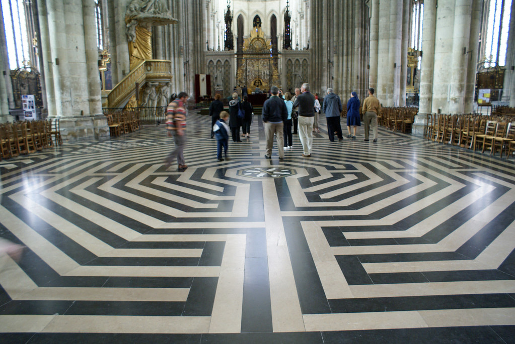 Notre Dame Cathedral Floor Amiens France Ron Mead