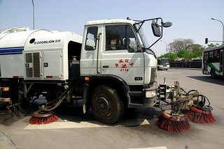 Mechanical street sweeper in Beijing | by Cedric Sam