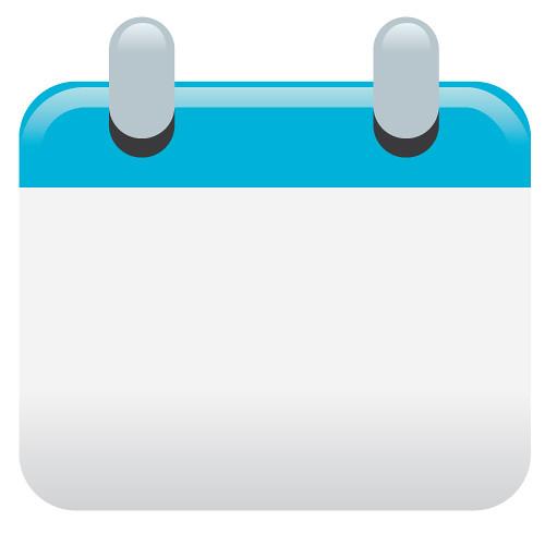 Calendar Icon Blue : Calendar icon made in illustrator for the new website