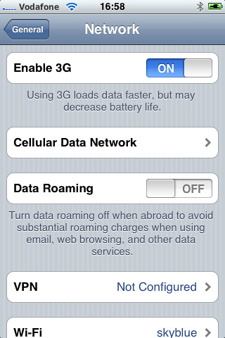 Iphone  Cellular Data Not Working