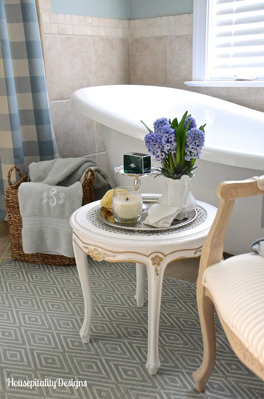Master Bathroom-French Country Table-Housepitality Designs