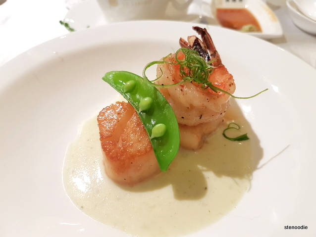 Pan Seared Scallops with Tiger Shrimp