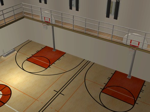Kinniji high school school hall indoor basketball courts for Free inside basketball courts