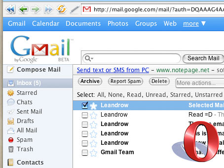 Gmail app - The Opera Version! | leandrow net/gmailapp-the-o
