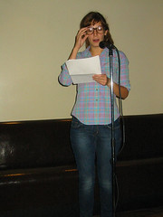 Zinester Tya Kagamas Reading at Cup and Pen | by Barnard Library Zine Collection