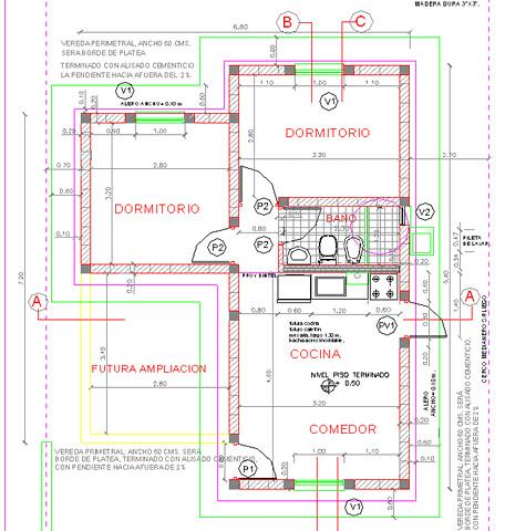 Plano de vivienda familiar vivienda com n de una familia - Planos de una vivienda ...