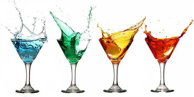 Rainbow flavored martini 39 s for How to make flavored martinis
