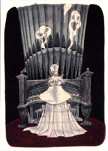 Haunted Mansion Organ Player Marc Davis Illustration Of