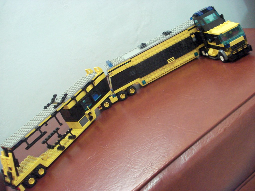lego road train truck own creation city