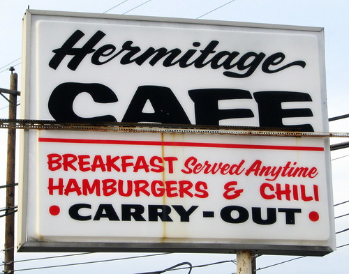 Hermitage Cafe sign | by SeeMidTN.com (aka Brent)