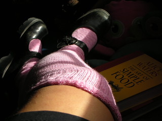 Pink knee socks | by paintedbooklady