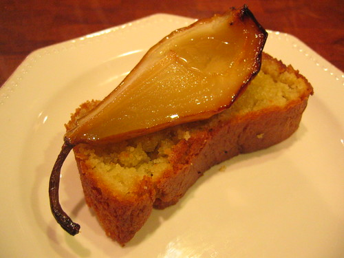 Olive Oil and Sauternes Cake with Roasted Pears | by tofu666