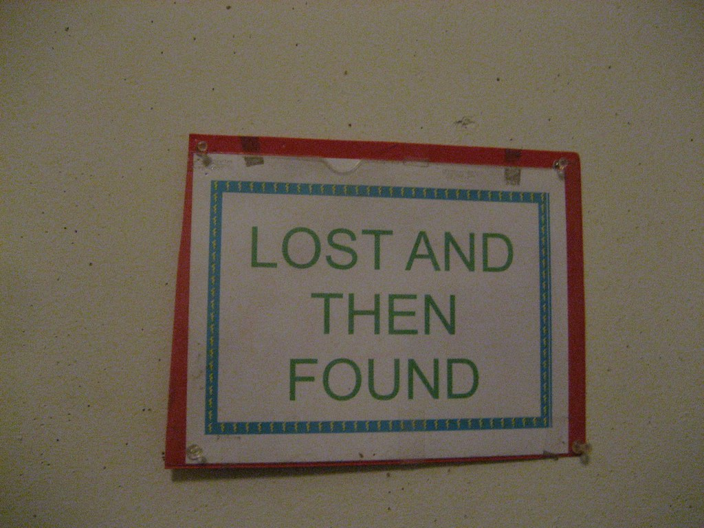 amazing grace style lost and found sign peninsula school c flickr